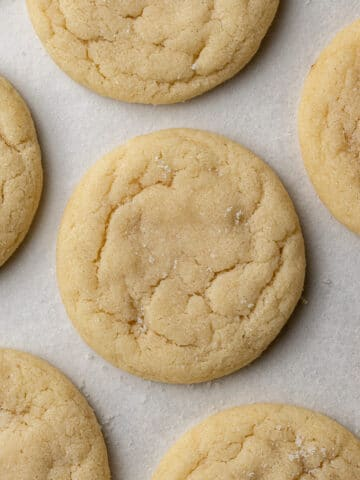 dairy free sugar cookies on parchment paper
