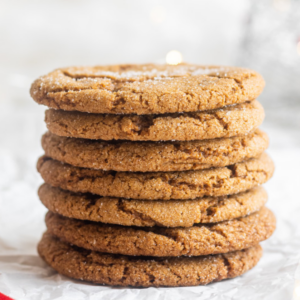 vegan gingersnaps stacked