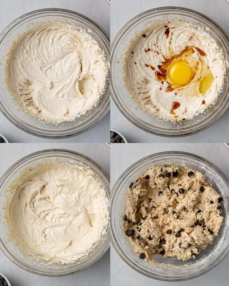 step by step process showing how to make corn flake cookies