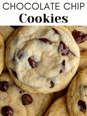 dairy free chocolate chip cookies web story cover image with text overlay