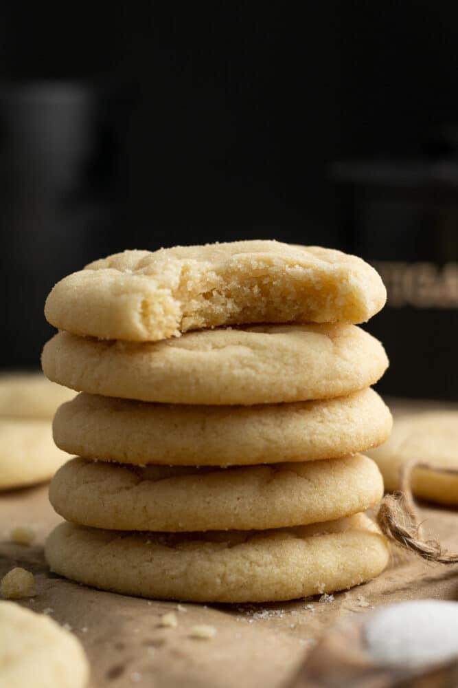 dairy free sugar cookies stacked