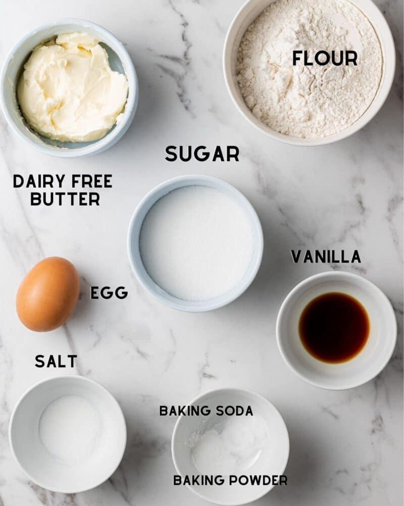 ingredients to make dairy free sugar cookies