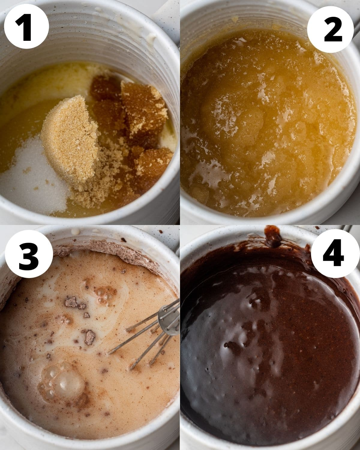 step by step instructions showing how to make a vegan mug cake
