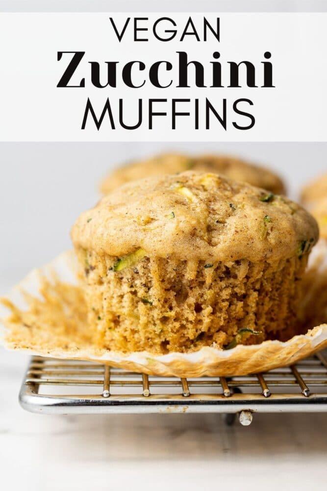 vegan zucchini muffins pin for pinterest