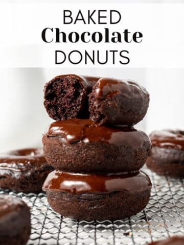 web story cover with donuts stacked on top of each other and glazed with text overlay