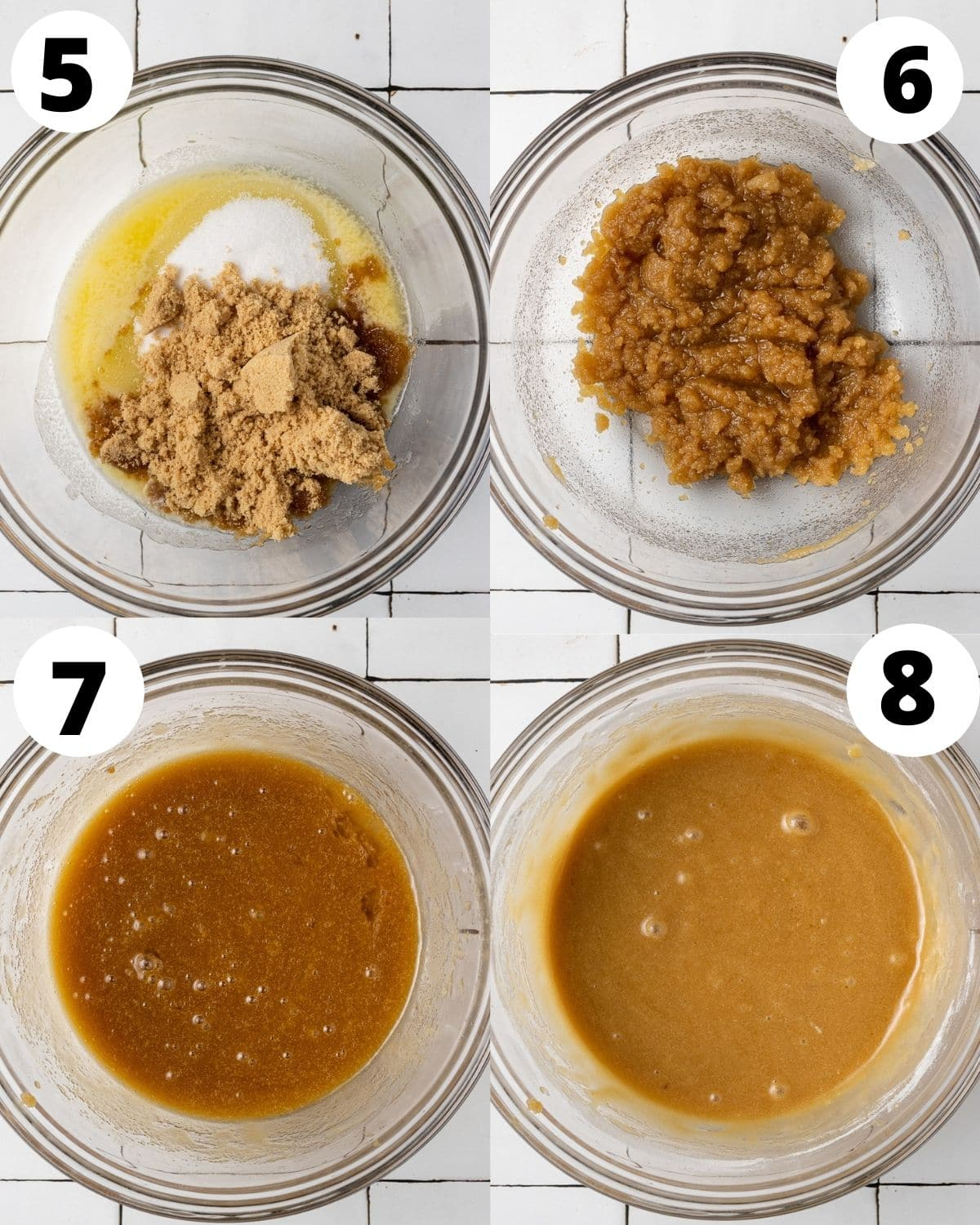 step by step process for how to make blondie batter for brownie blondies