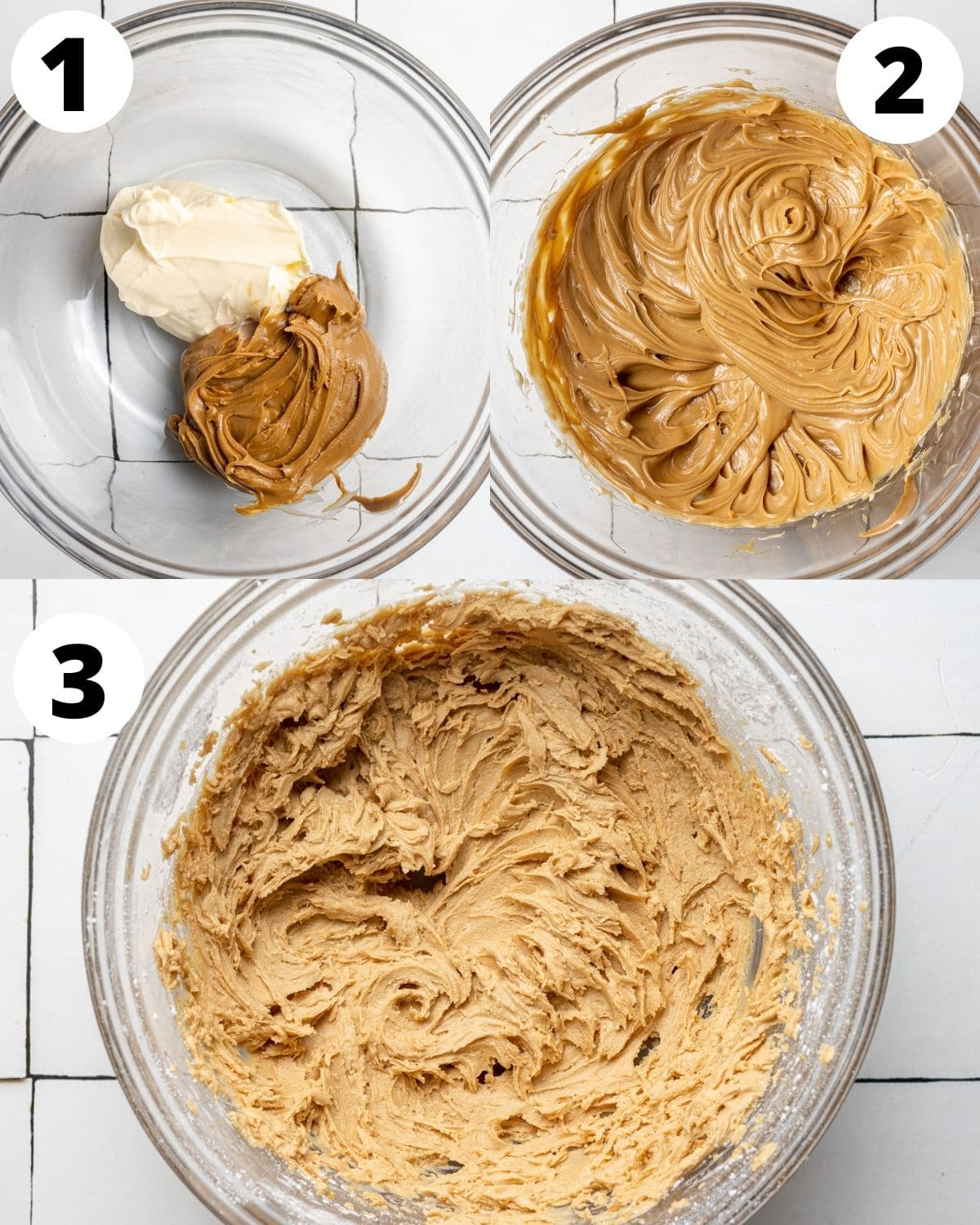 Step by step instructions showing how to make biscoff buttercream