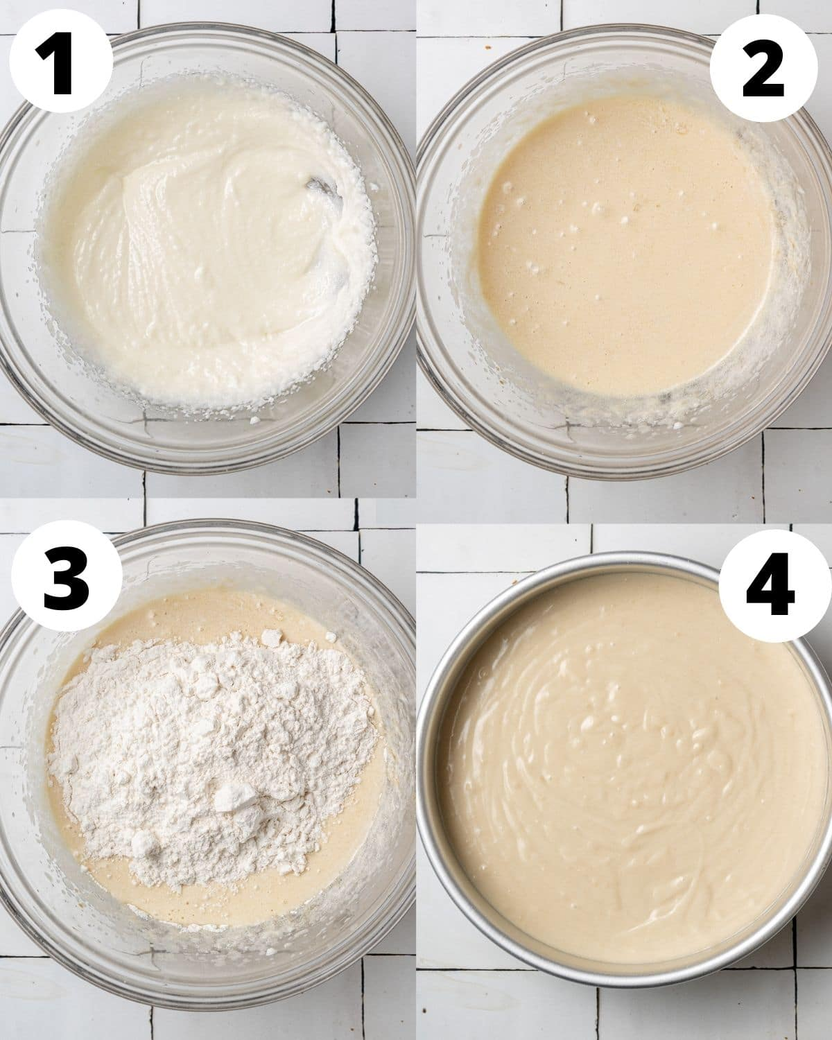 step by step instructions showing how to make biscoff cake