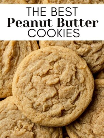 peanut butter cookies with text overlay for web story