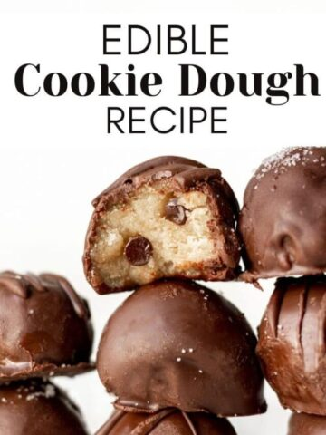 edible cookie dough with text overlay for web story